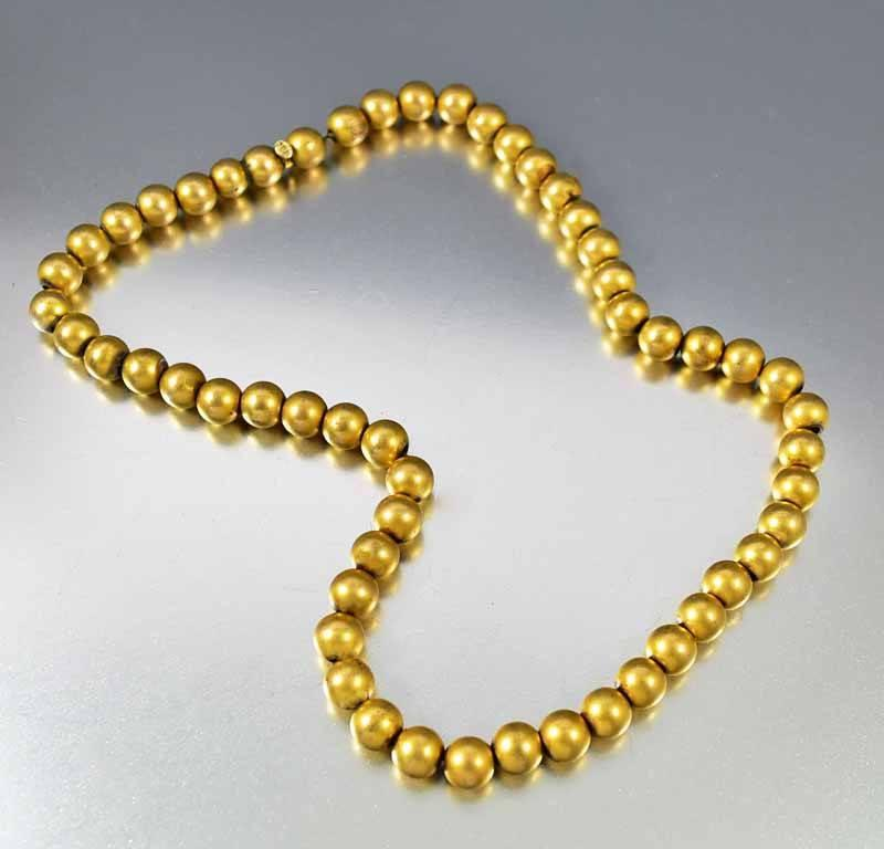 Antique Gold Filled Ball Bead Choker Necklace - Boylerpf - 1