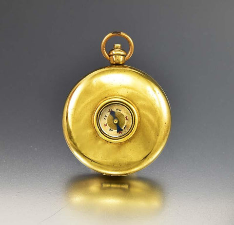 Antique Gold Filled Stirrup Cup Compass Locket