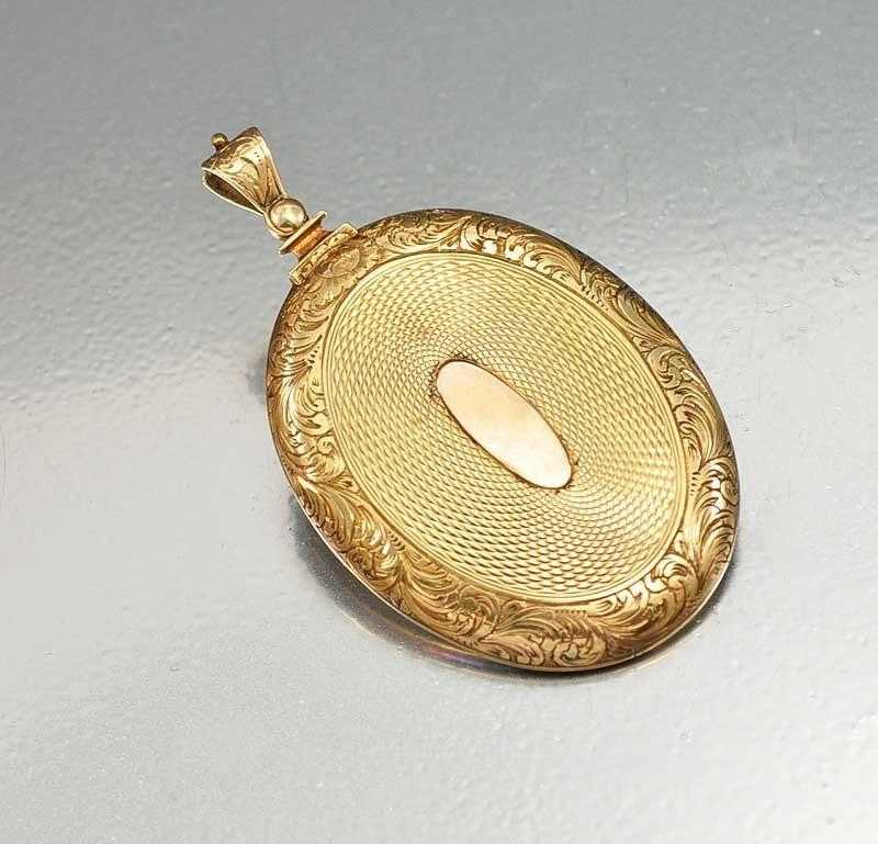 Antique Victorian 14K Gold Locket Daguerreotype Civil War - Boylerpf