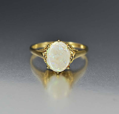 Antique Gold & Turquoise Edwardian Engagement Ring
