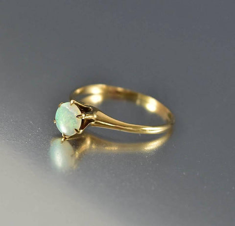 Antique Gold Opal Edwardian Engagement Ring
