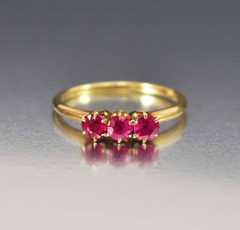 vintage diamond antique ruby promise rings engagement wedding ring