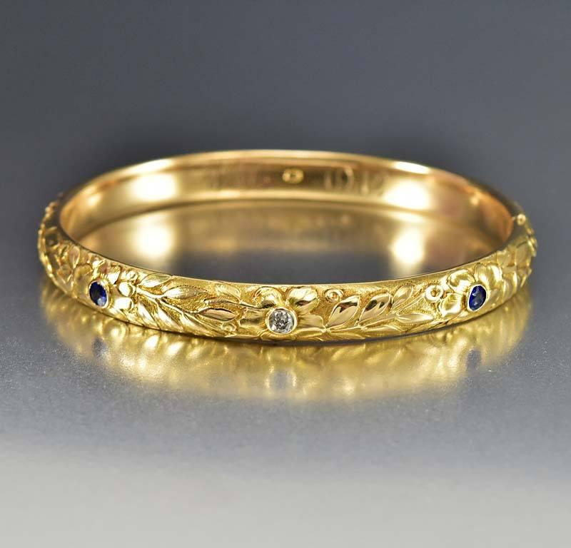 vintage bracelet bracelets diamond antiques sapphire and bangles bangle