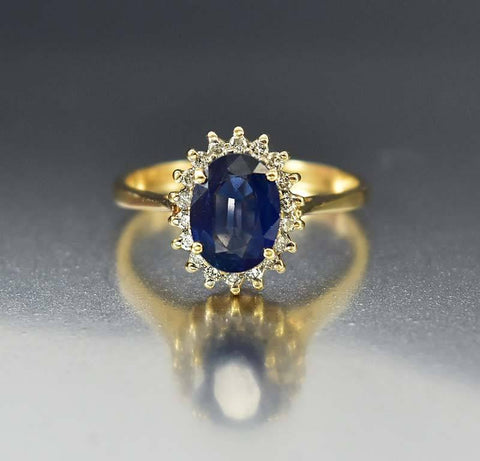 Victorian Moonstone Antique Gold Diamond Ring