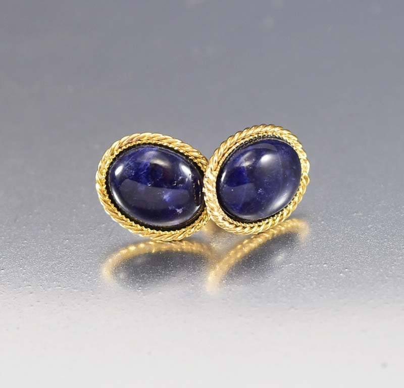 lazuli luxor earrings com stauer lapis item