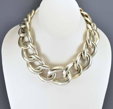 Vintage Silver Chain Haute Couture Givenchy Necklace