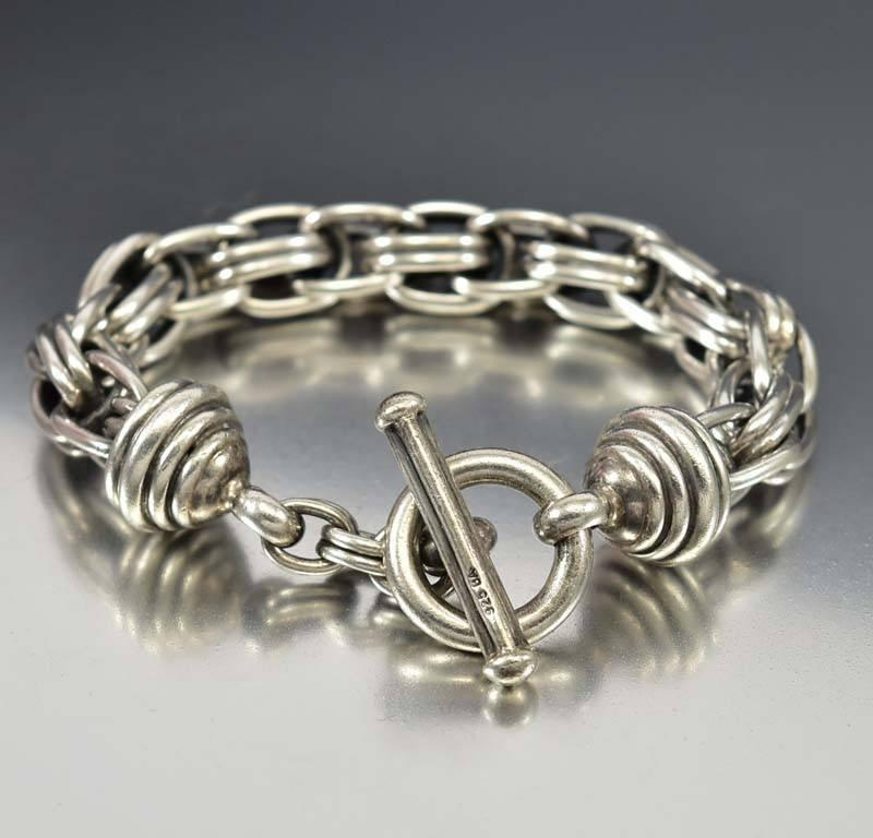 sale links on bracelets sterling knotted feshionn silver toggle iobi products bracelet
