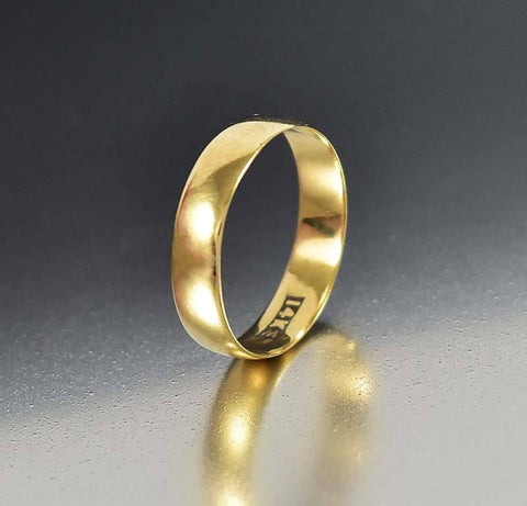 Art Nouveau JR Woods 14K Gold Wedding Band Ring