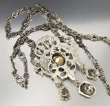 Victorian Silver Phoenix Citrine Peruzzi Necklace Coppini -ON HOLD - Boylerpf - 6