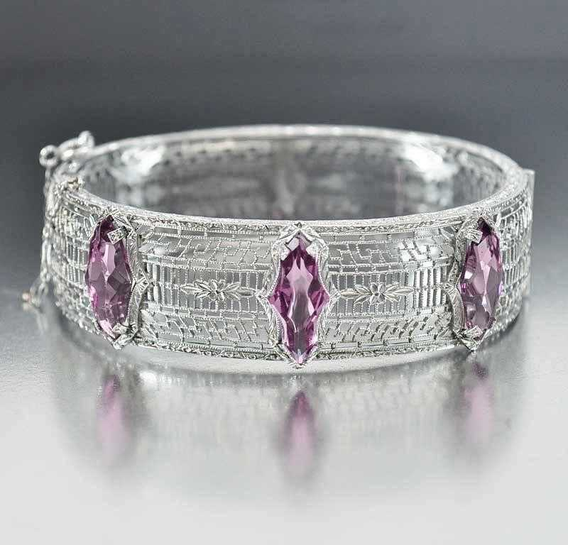 bangle bangles alex ani amethyst swarovski crystal jewellery image and