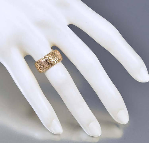 Edwardian English Rose Gold Wedding Band Ring