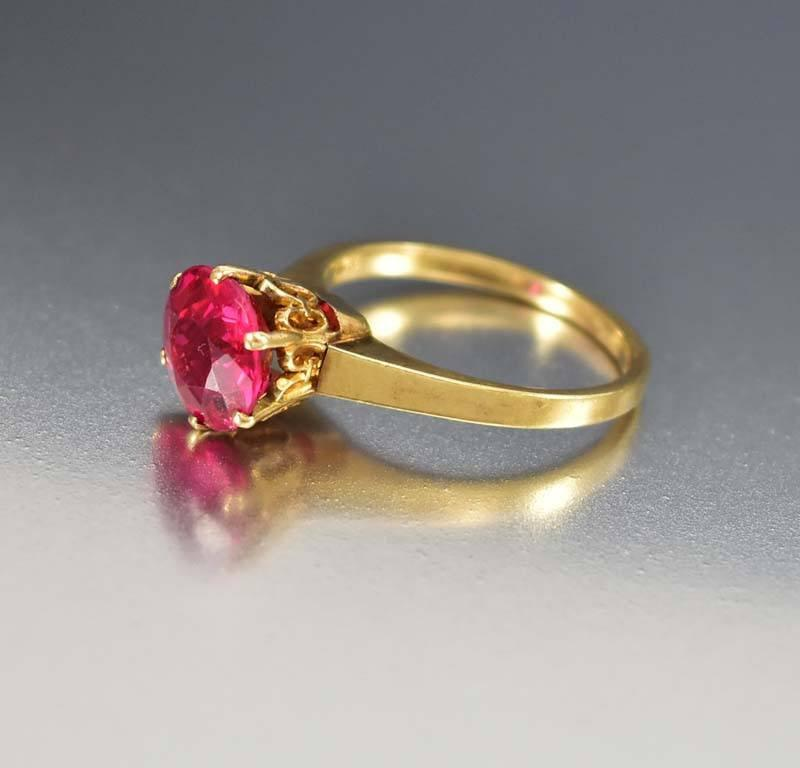 rose rings ring cz antique diamond market red ruby lab etsy princess floral silver il engagement sterling cut gold