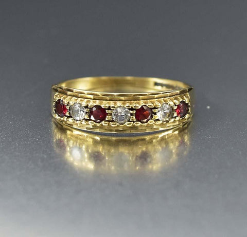 Antique Victorian Gold Woven Hair Band Ring Mourning Jewelry