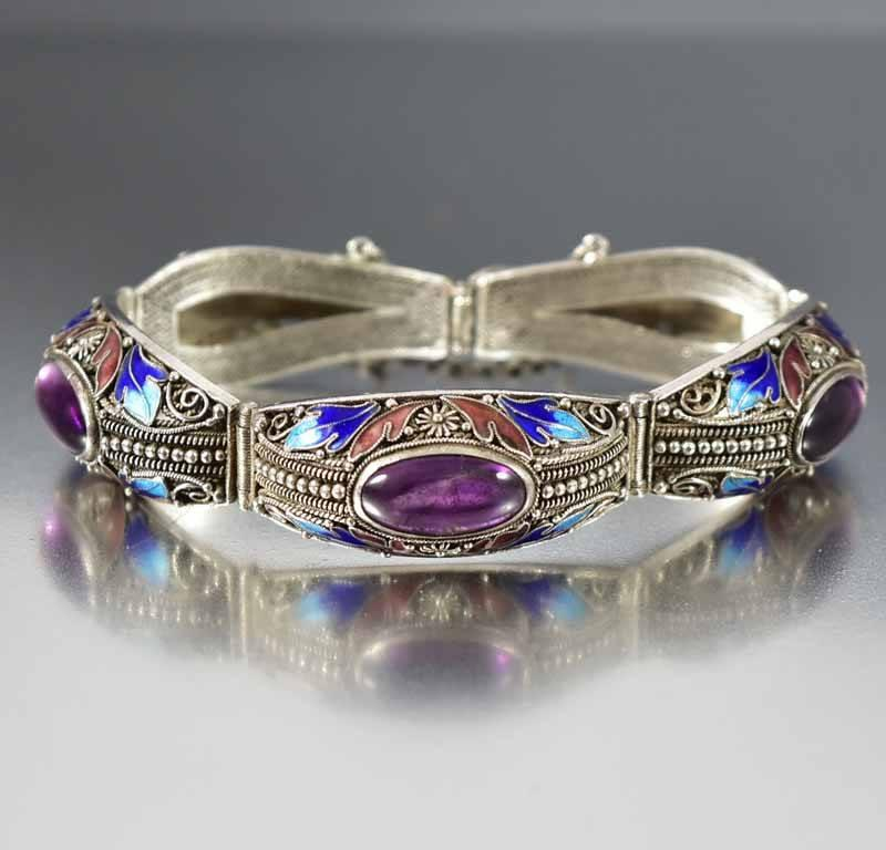 gallery bangles lyst bracelet cuff large lagos bangle silver purple prism amethyst product in jewelry normal