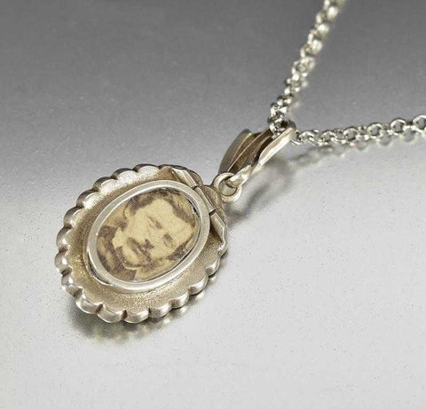 Antique Victorian Silver Diamond Paste Double Locket