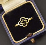 Chic Celtic Clover 14K Gold Minimalist Ring - Boylerpf