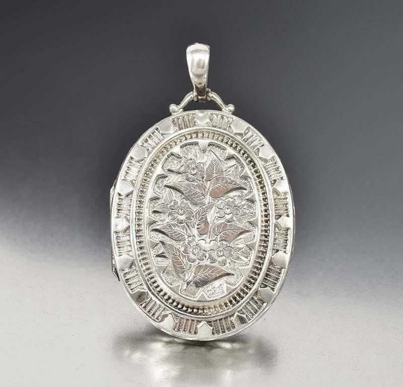 locket style engraved az lockets grw silver pendant vintage bling p oval jewelry sterling inch