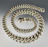 Antique English Silver Albert Watch Chain Necklace ON HOLD - Boylerpf