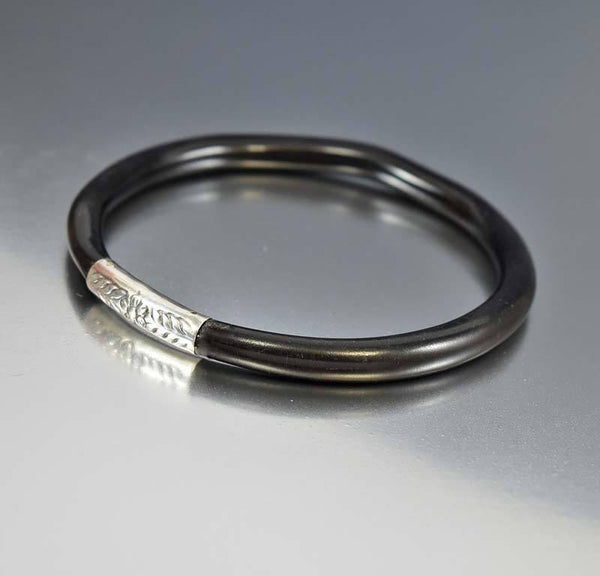 onyx steel and stainless with bangle sterling bangles mk black bracelets bracelet silver