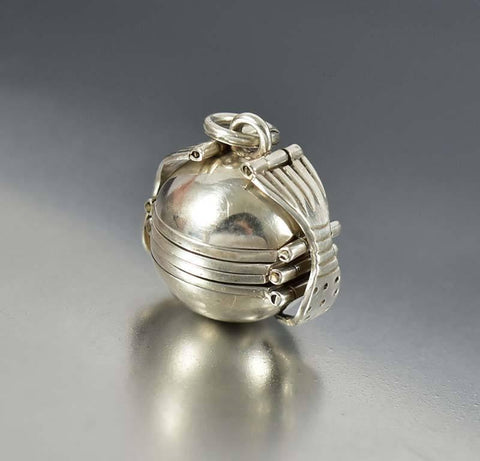 Taxco Silver Multi Photo Fold Out Mexican Ball Locket