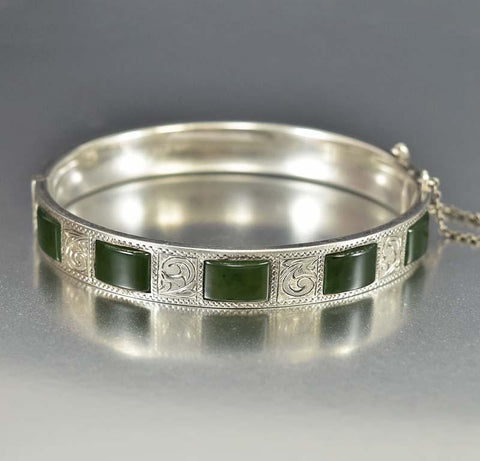 Sterling Silver Octagon Portugal Bangle Bracelet
