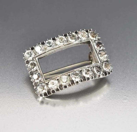 Antique Georgian Diamond Paste Buckle Brooch