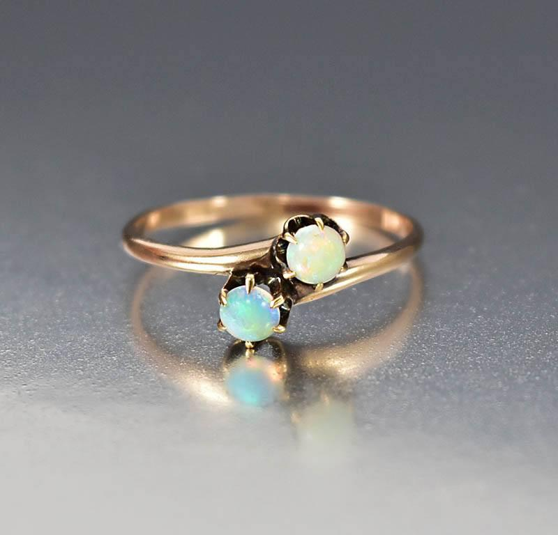 cz diamond with opal fullxfull unique promise or cushion sterling silver il in rings ring made engagement rose man stacking gold halo