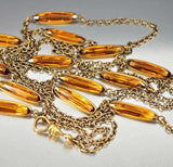 Crystal Victorian Watch Chain Necklace ON HOLD - Boylerpf