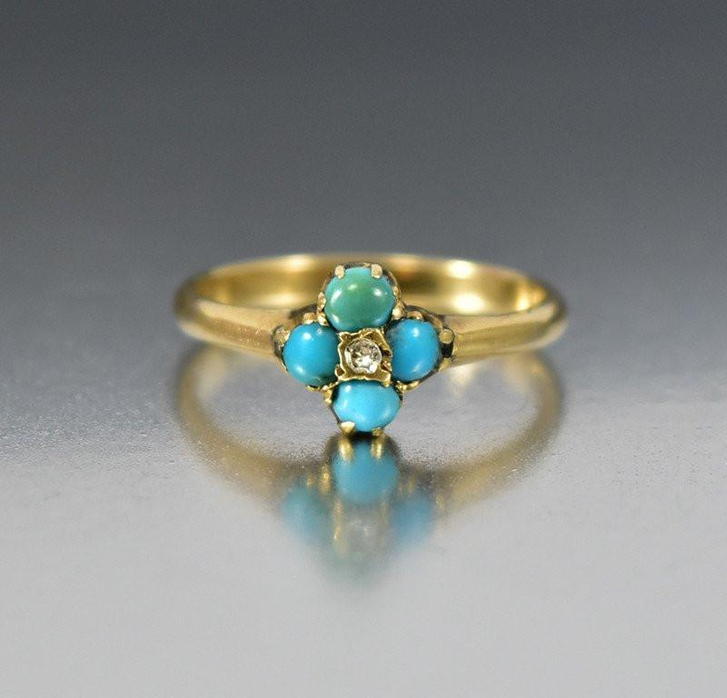 turquoise and diamond wedding ring antique turquoise engagement ring boylerpf 8114