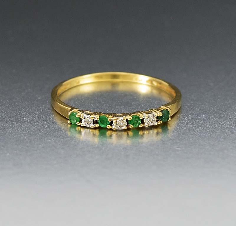 gold white half eternity pave collections emerald band plated thin products grande cz green bands