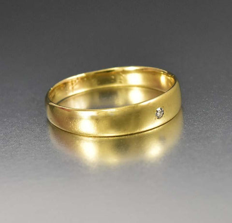 14K gold Art Deco Men's Diamond Wedding Band Ring