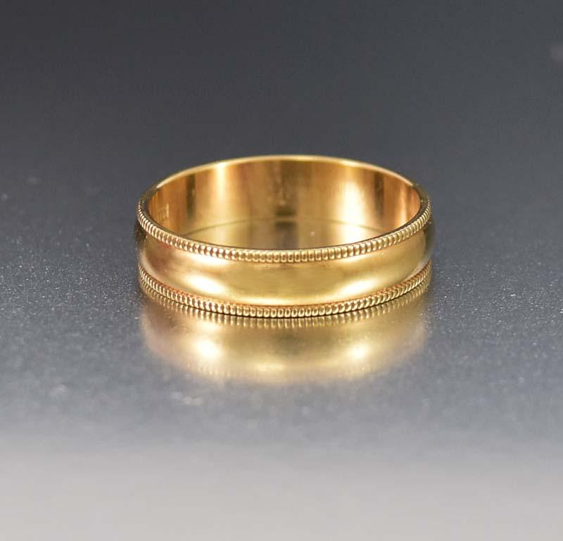 Awesome Wide 10K Yellow Gold Wedding Band Ring - Boylerpf