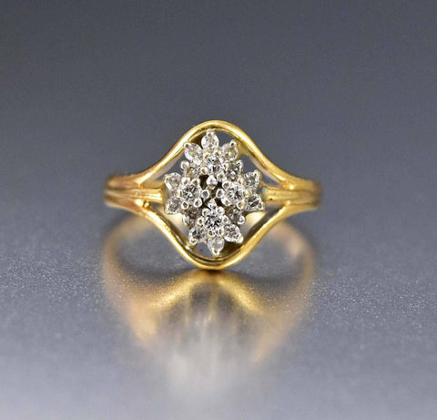14K White Gold Art Deco Engagement Ring 1920s