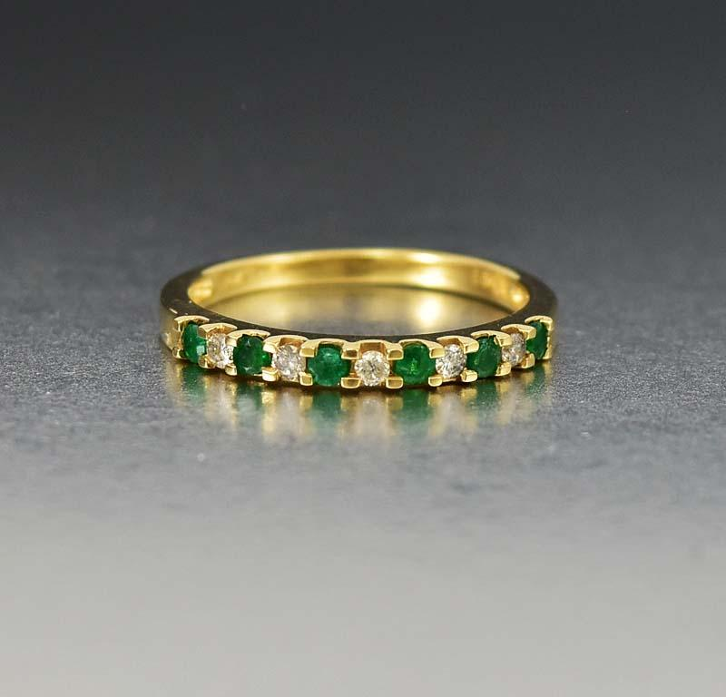 emerald band ebay ring eternity bhp bands