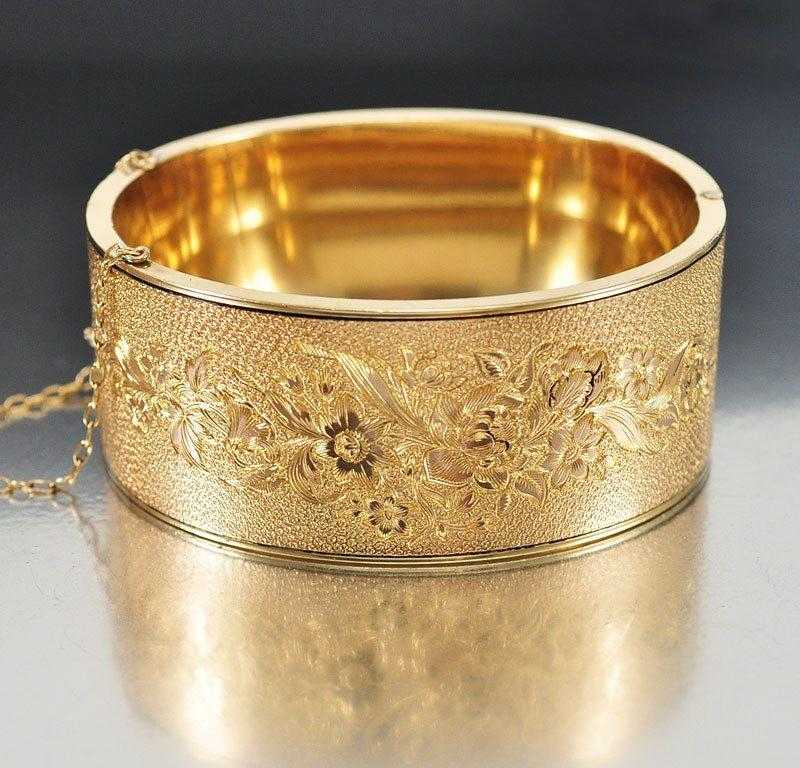 bangles bangle plain qg bracelet hinged gold