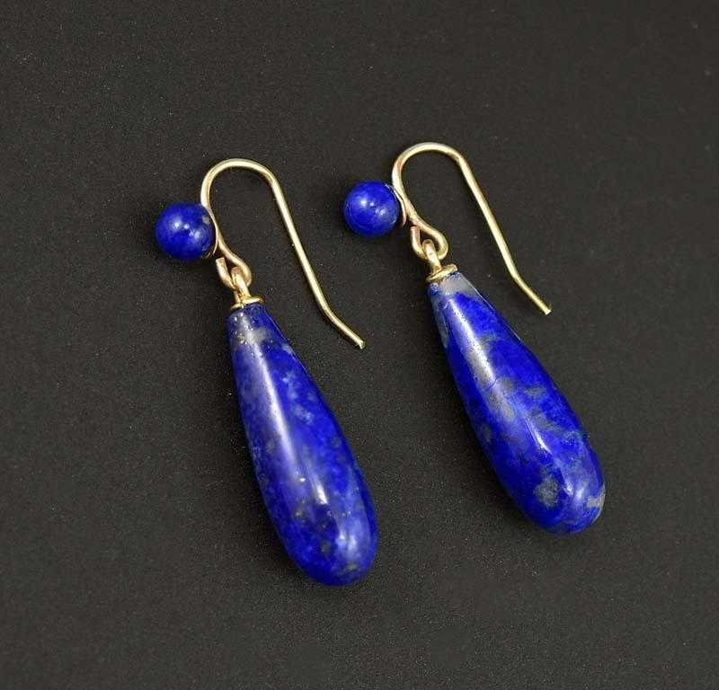lapis lazuli item women big drop fashion for in from silver antique cuff jewelry earrings pendant vintage plated flower oval natural