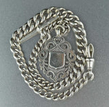 English Antique Albert Watch Chain w Fob 50 gms - Boylerpf