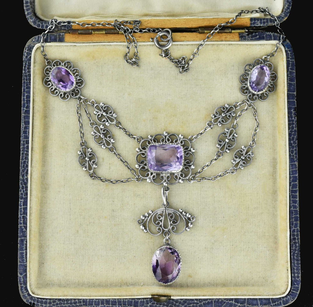Victorian French Amethyst Necklace 19th century - Boylerpf