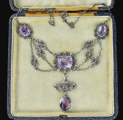 Victorian French Amethyst Necklace 19th century