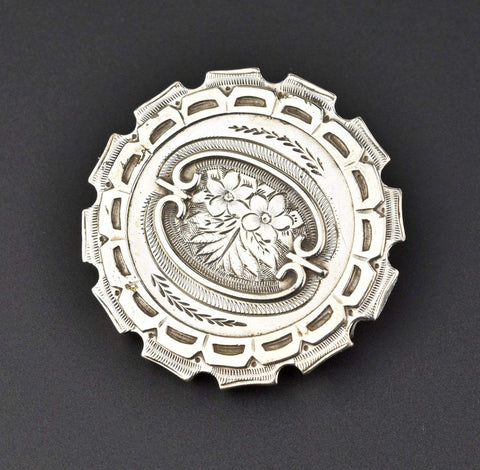 Antique Victorian Silver Brooch Pin SOLD
