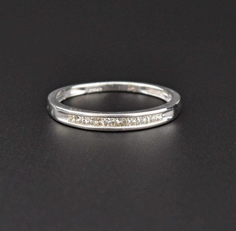 Vintage Platinum Diamond Band Half Eternity Ring