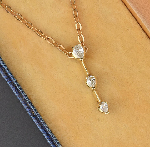 14K Gold Diamond Journey Pendant