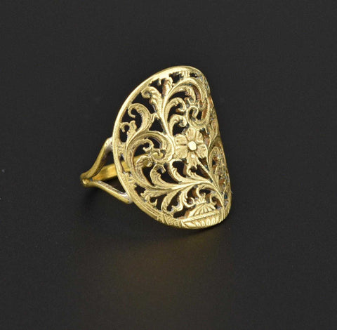 Victorian Verge Fusee Giardinetti Ring 1800s