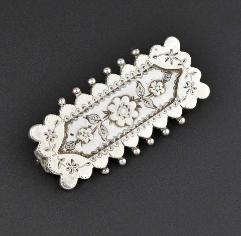 Vintage Forget Me Not Silver Brooch