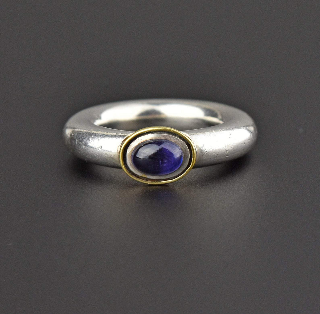 Gold and Silver Vintage Amethyst Ring - Boylerpf