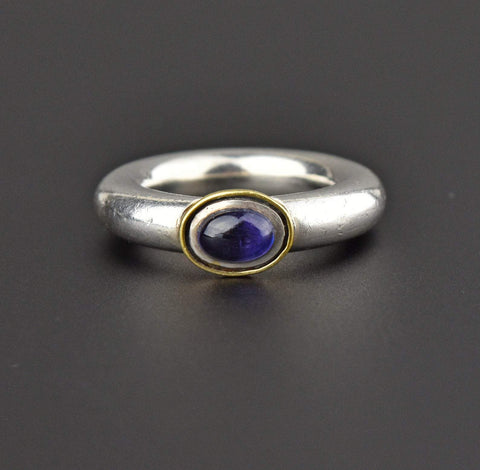 Gold and Silver Vintage Amethyst Ring