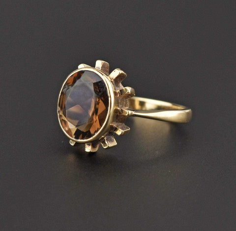 Victorian Revival Silver Buckle Ring