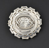 Antique Victorian Silver Brooch Pin - Boylerpf