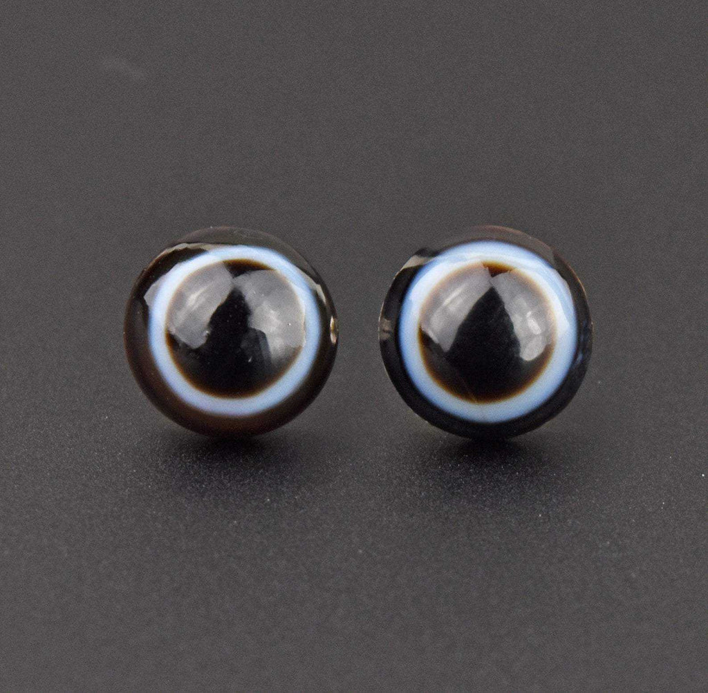 Vintage Bullseye Banded Agate Earrings - Boylerpf