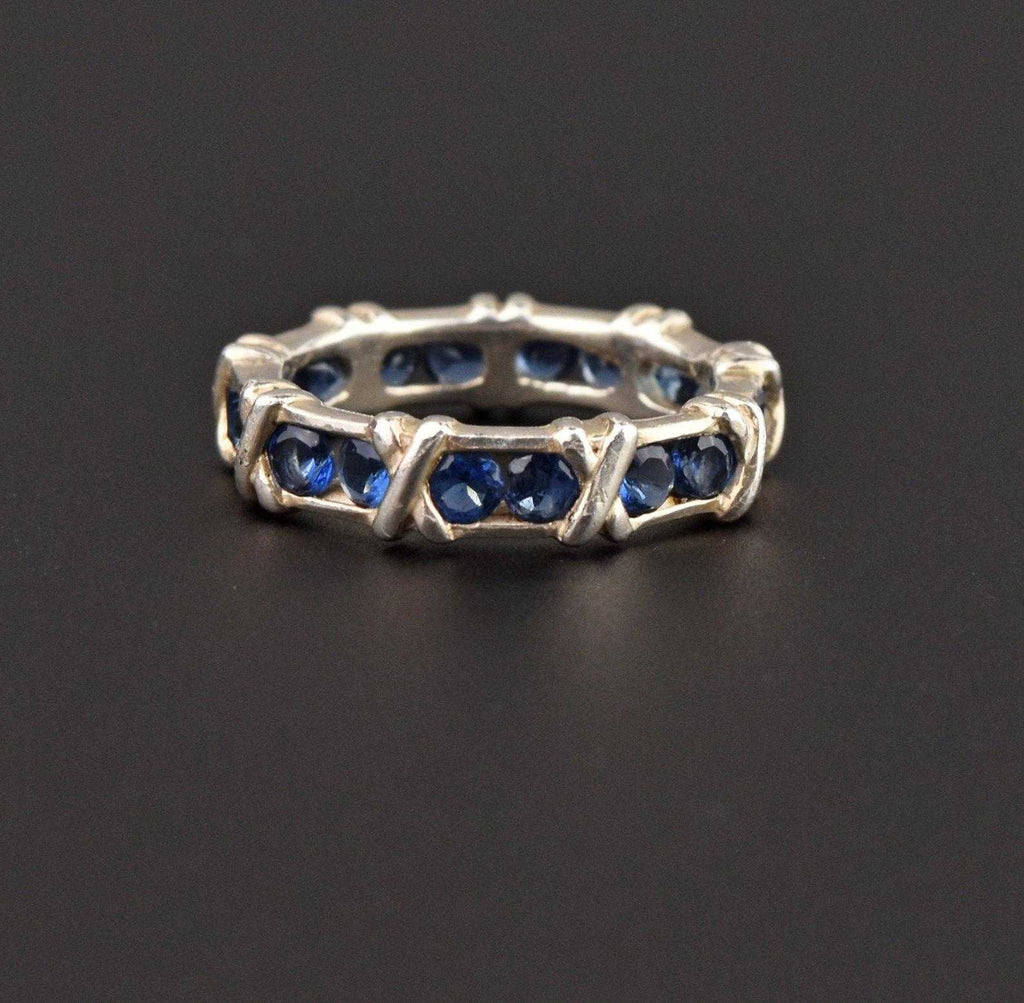 Hugs and Kisses X and O Sapphire Eternity Band - Boylerpf